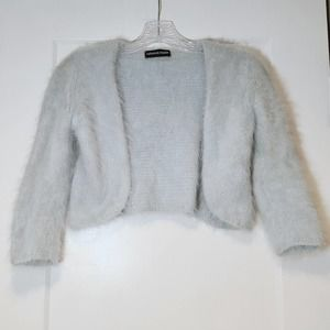 Rebecca Taylor Pale Blue Cropped Cardigan